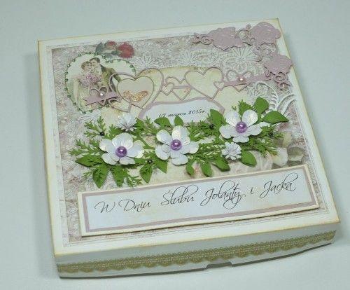 ślubna karteczka, życzenia, wykrojnik, memory box, Marianna Desing, cheery Lynn Desings, Marta Stewart, DSCF3009