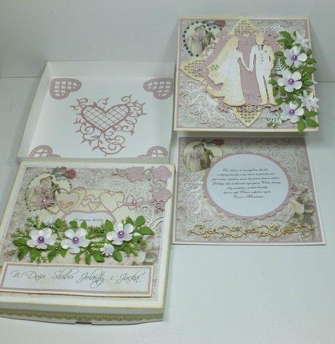 ślubna karteczka, życzenia, wykrojnik, memory box, Marianna Desing, cheery Lynn Desings, Marta Stewart, DSCF3010