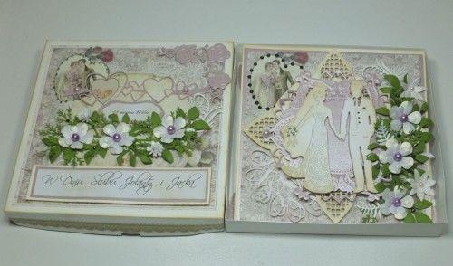 ślubna karteczka, życzenia, wykrojnik, memory box, Marianna Desing, cheery Lynn Desings, Marta Stewart, DSCF3015
