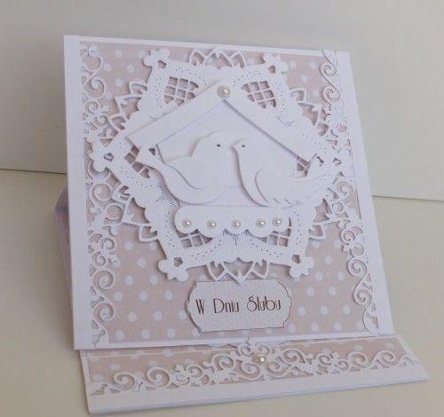 ślub, życzenia, karteczka, wykrojnik, Tattered Lace, cheery Lynn Desings, Cottage cuttz, Marianna Desing, sizzix, DSCF3390