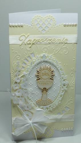 zaproszenie, komunia, kartka ręcznie robionaDSCF3058