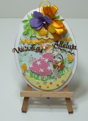 Karteczka ręcznie robiona Wielkanoc, życzenia DSCF3294
