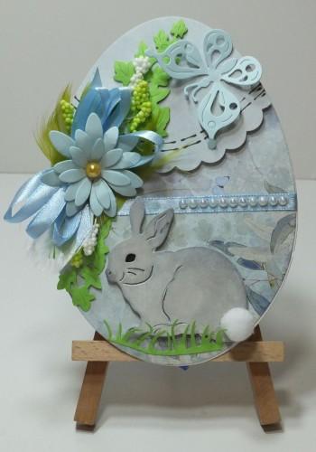 Karteczka ręcznie robiona Wielkanoc, życzenia DSCF3296