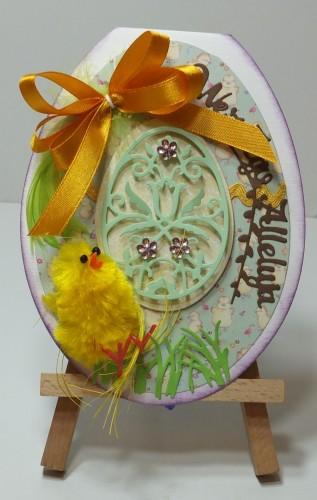 Karteczka ręcznie robiona Wielkanoc, życzenia DSCF3298