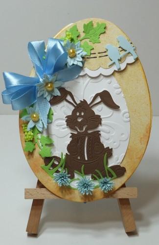 Karteczka ręcznie robiona Wielkanoc, życzenia DSCF3299