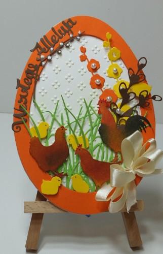 Karteczka ręcznie robiona Wielkanoc, życzenia DSCF3304