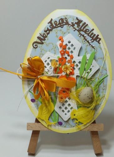 Karteczka ręcznie robiona Wielkanoc, życzenia DSCF3305