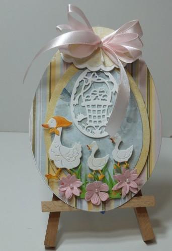 Karteczka ręcznie robiona Wielkanoc, życzenia DSCF3306