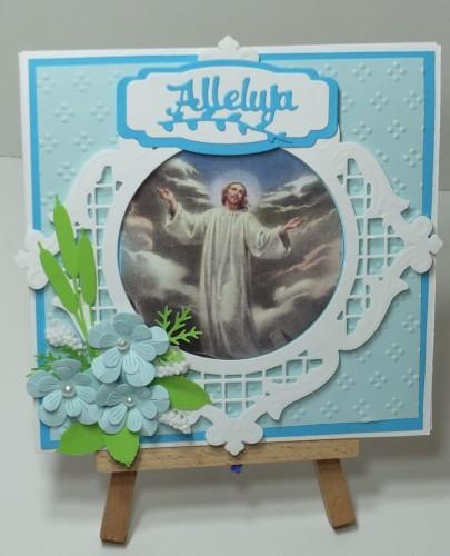 Karteczka ręcznie robiona Wielkanoc, życzenia DSCF3308