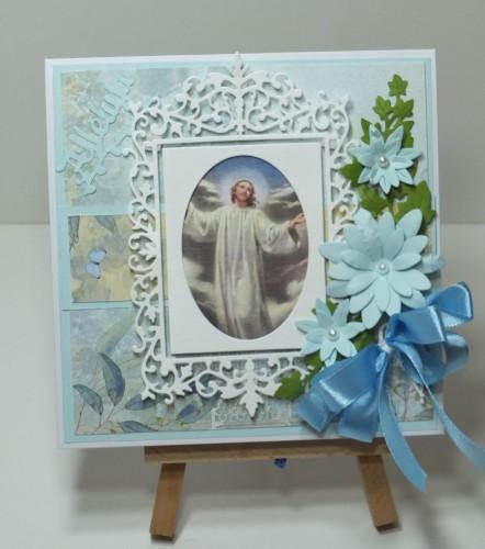 Karteczka ręcznie robiona Wielkanoc, życzenia DSCF3311