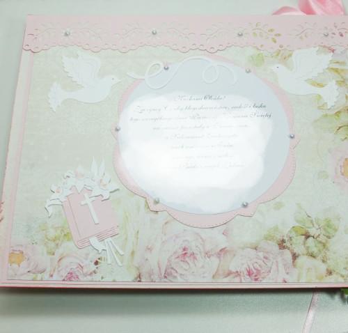 Album komunijny, ręcznie robiony, scrapbooking, życzeniaDSCF3568