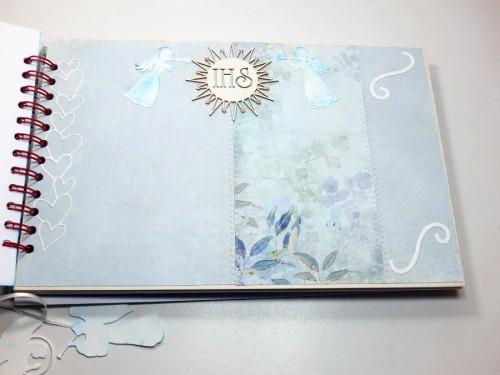 Album komunijny, ręcznie robiony, scrapbooking, życzeniaDSCF3608