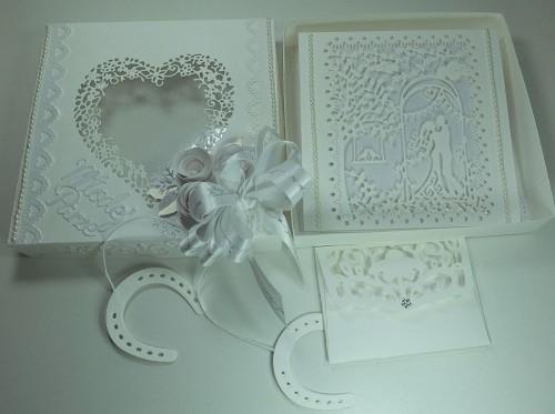 Pamiątka ślubna, kartka ręcznie robionaDSCF3662