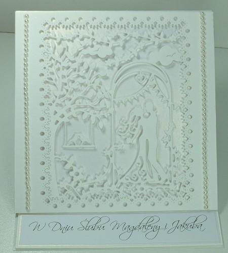 Pamiątka ślubna, kartka ręcznie robionaDSCF3664