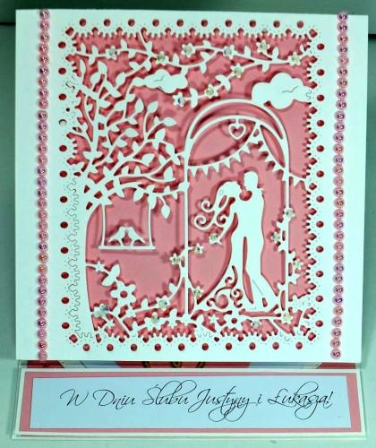 Pamiątka ślubna, kartka ręcznie robionaDSCF3851