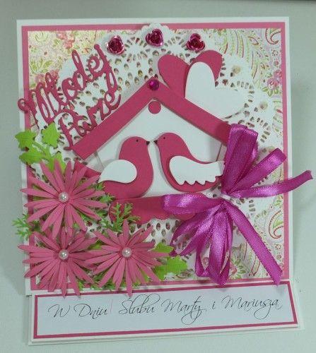 Pamiątka ślubna, kartka ręcznie robionaDSCF3848