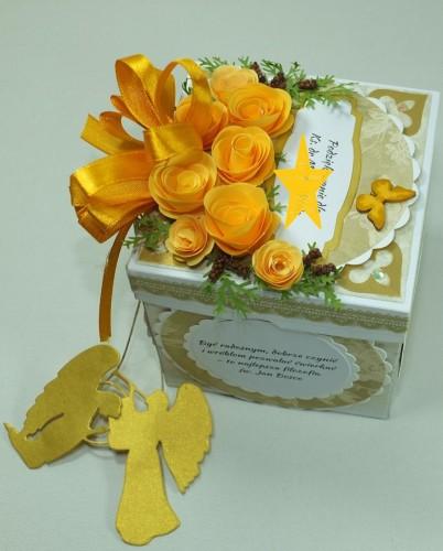 kartka ręcznie robiona, życzenia, exploding box,podziękowanie, nauczycielDSCF3943