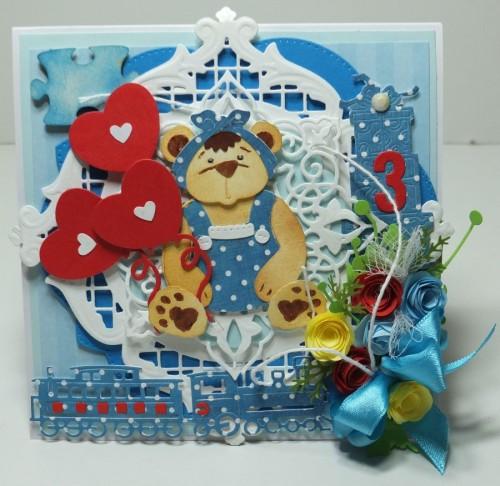 kartka ręcznie robiona, Urodziny, imieniny dla dzieciDSCF3141