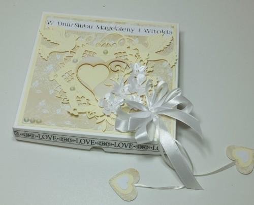 Ślubna karteczka ręcznie robionaDSCF3213