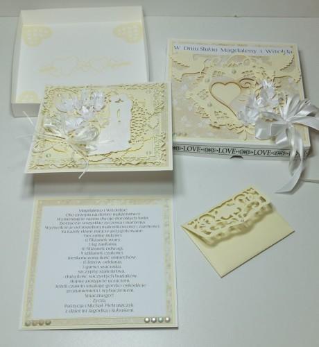 Ślubna karteczka ręcznie robionaDSCF3214