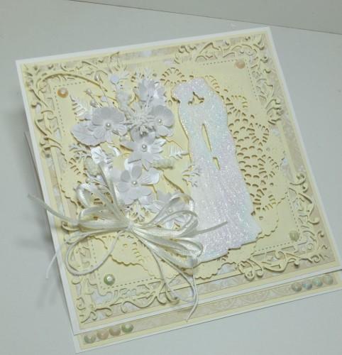 Ślubna karteczka ręcznie robionaDSCF3215