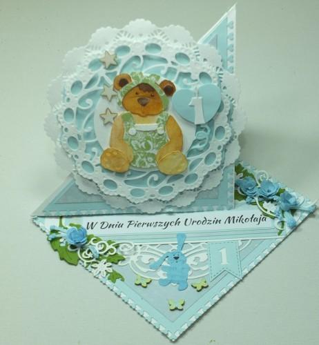 kartka ręcznie robiona, urodziny imieniny,chrzest ślub  DSCF4002