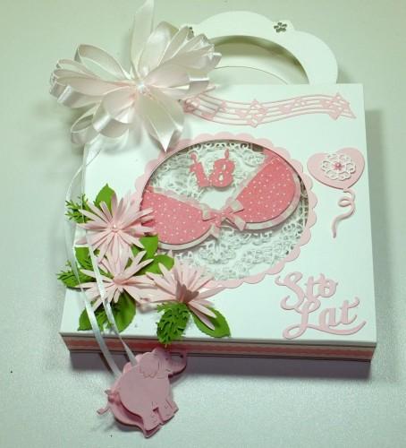 Kartka ręcznie robiona, urodziny, imieniny, Dzień Babci, Dzień Dziadka chrzest, ślub DSCF4190 (42)