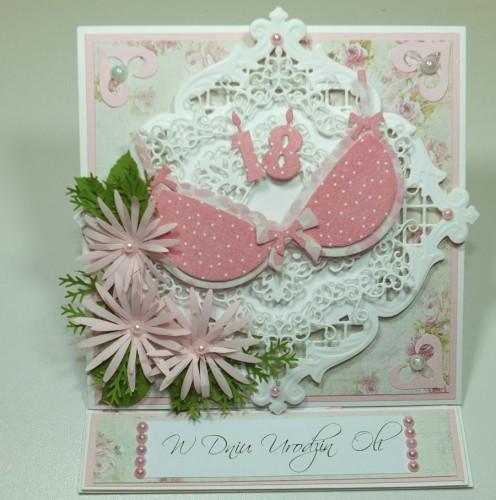 Kartka ręcznie robiona, urodziny, imieniny, Dzień Babci, Dzień Dziadka chrzest, ślub DSCF4190 (44)
