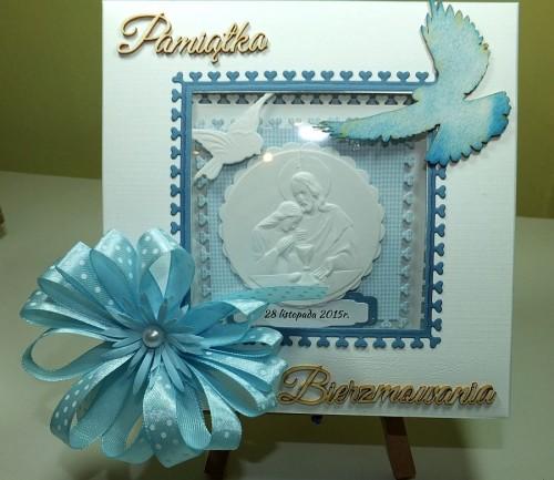 Kartka ręcznie robiona, urodziny, imieniny, Dzień Babci, Dzień Dziadka chrzest, ślub DSCF4190 (60)