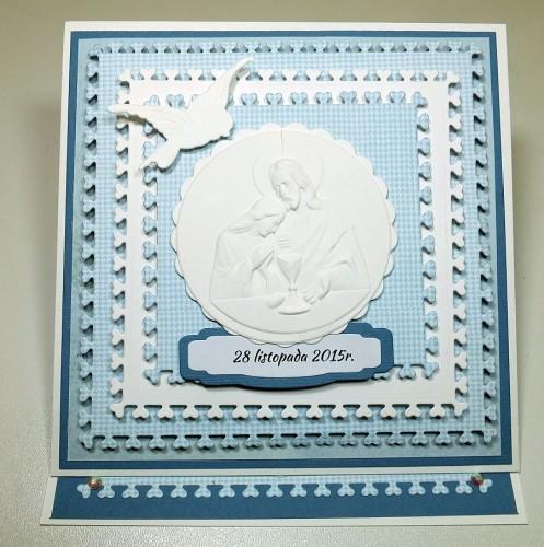 Kartka ręcznie robiona, urodziny, imieniny, Dzień Babci, Dzień Dziadka chrzest, ślub DSCF4190 (62)