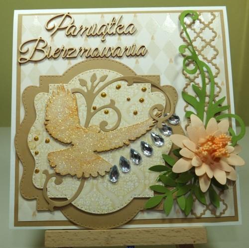 Kartka ręcznie robiona, urodziny, imieniny, Dzień Babci, Dzień Dziadka chrzest, ślub DSCF4190 (64)