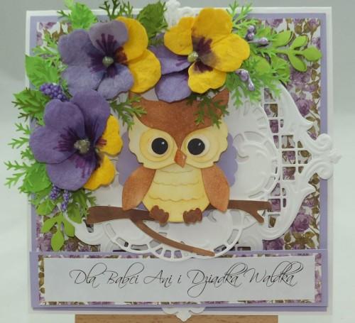 Kartka ręcznie robiona, urodziny, imieniny, Dzień Babci, Dzień Dziadka chrzest, ślub DSCF4190 (80)