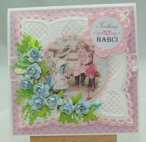 Kartka ręcznie robiona, urodziny, imieniny, Dzień Babci, Dzień Dziadka chrzest, ślub DSCF4190 (81)