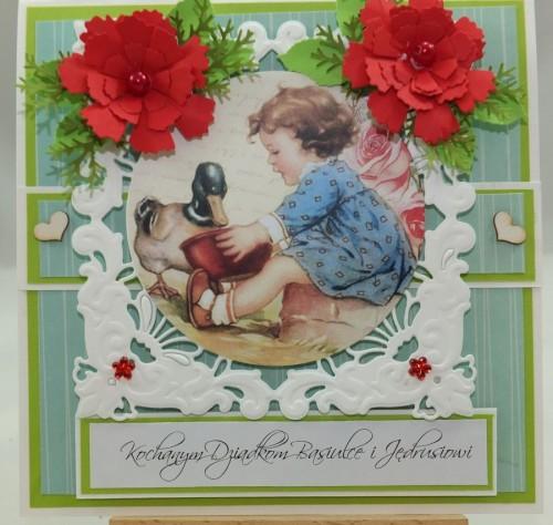Kartka ręcznie robiona, urodziny, imieniny, Dzień Babci, Dzień Dziadka chrzest, ślub DSCF4190 (82)