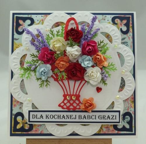 Kartka ręcznie robiona, urodziny, imieniny, Dzień Babci, Dzień Dziadka chrzest, ślub DSCF4190 (83)