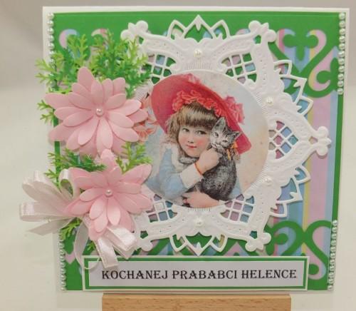 Kartka ręcznie robiona, urodziny, imieniny, Dzień Babci, Dzień Dziadka chrzest, ślub DSCF4190 (84)