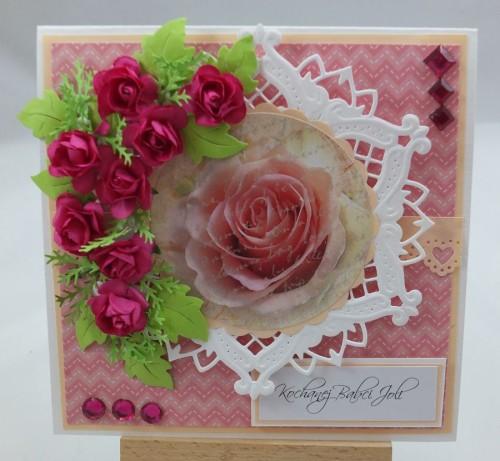 Kartka ręcznie robiona, urodziny, imieniny, Dzień Babci, Dzień Dziadka chrzest, ślub DSCF4190 (85)