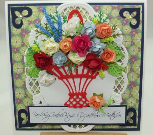 Kartka ręcznie robiona, urodziny, imieniny, Dzień Babci, Dzień Dziadka chrzest, ślub DSCF4190 (86)
