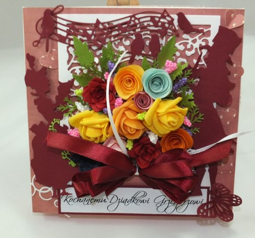 kartka ręcznie robiona Dzień Babci, Dzień Dziadka, Urodziny, Imieniny, życzenia DSCF4438
