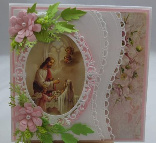 Kartka ręcznie robiona, urodziny, imieniny, Dzień Babci, Dzień Dziadka chrzest, ślub DSCF4190 (141)
