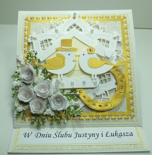 Kartka ręcznie robiona, urodziny, imieniny, Dzień Babci, Dzień Dziadka chrzest, ślub DSCF4190 (19)