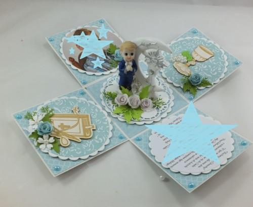 kartka ręcznie robiona, życzenia,imieniny, urodziny, ślub, komunia, chrzest, roczek, wykrojnik  (95)