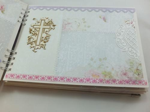 ręcznie wykonany album na zdjecia, komunia, chrzest, ślub, roczek (2)