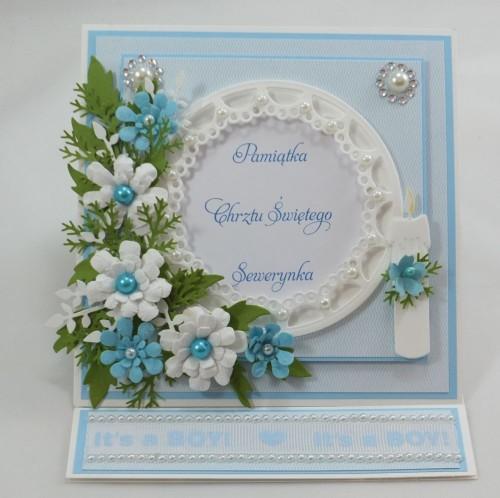 kartka ręcznie robiona, życzenia,imieniny, urodziny, ślub, komunia, chrzest, roczek, wykrojnik  (8)