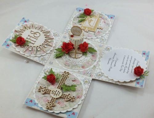 kartka ręcznie robiona, chrzest, komunia, prymicje, urodziny, ślub, haft pasja (1)