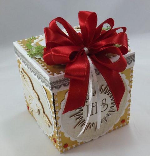 kartka ręcznie robiona, chrzest, komunia, prymicje, urodziny, ślub, haft pasja (136) - Kopia