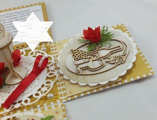 kartka ręcznie robiona, chrzest, komunia, prymicje, urodziny, ślub, haft pasja (140)