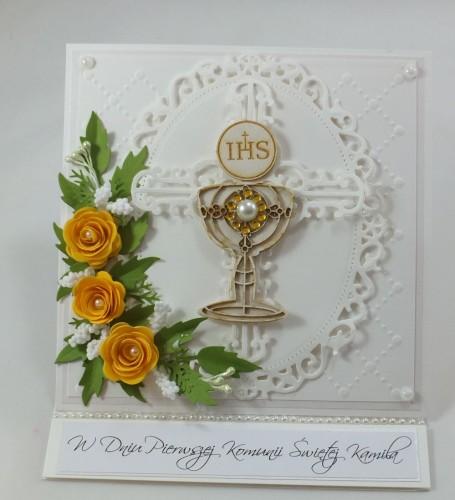 kartka ręcznie robiona, chrzest, komunia, prymicje, urodziny, ślub, haft pasja (23)