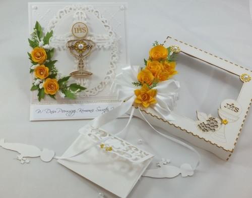 kartka ręcznie robiona, chrzest, komunia, prymicje, urodziny, ślub, haft pasja (25)