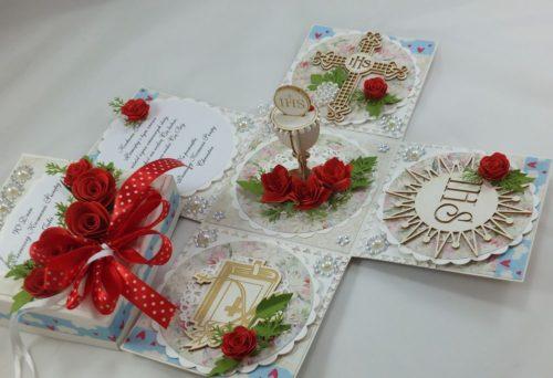 kartka ręcznie robiona, chrzest, komunia, prymicje, urodziny, ślub, haft pasja (4)
